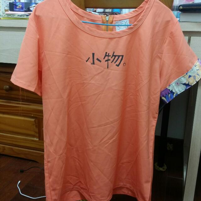 全新HEY SUN獨立手作品牌‧小物文青雪紡系列上衣-雪紡短袖T