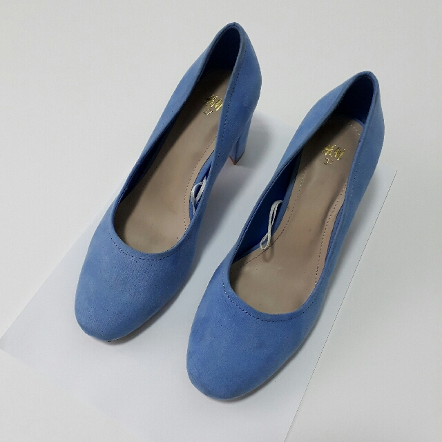 H&M Block Heels in Powder Blue