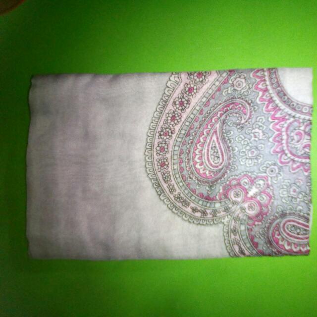 Jilbab Abu2 Batik