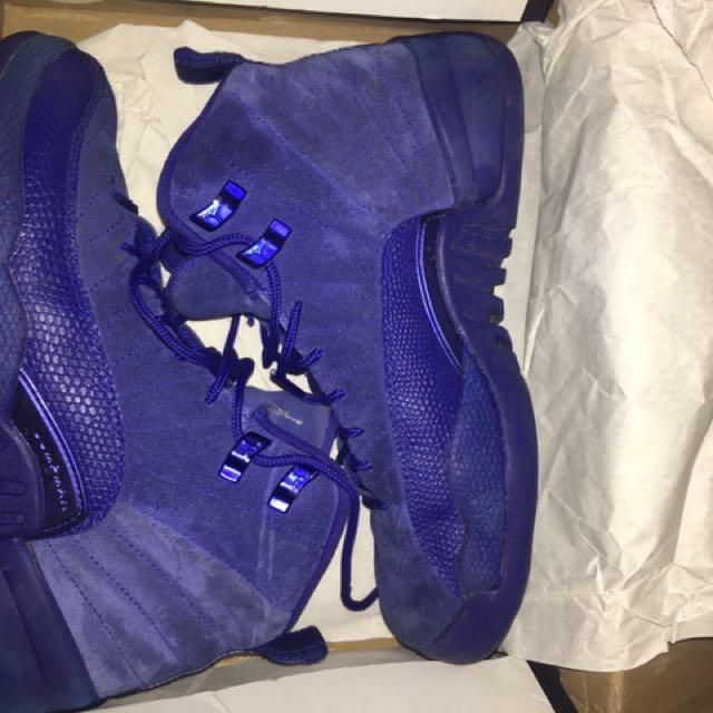 Jordans 12, Royal Blue suede