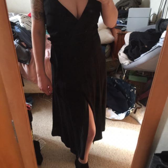 Kookai black wrap dress size 36