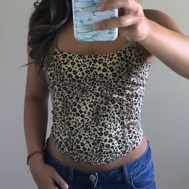Leopard print bustier