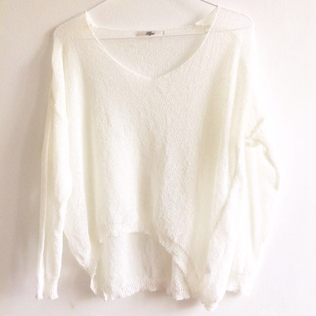 Lips Knitted Blouse/Sweater