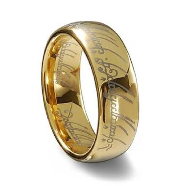 Lord Of The Rings 18K Plated Gold Ring