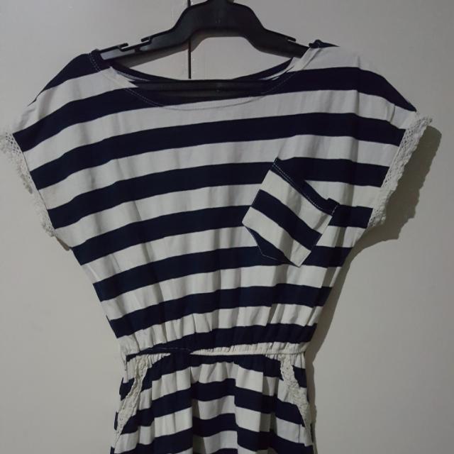 Mini Stripped Dress