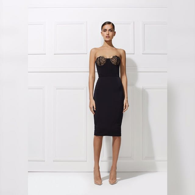 Misha Collection Grace Dress LBD Size L
