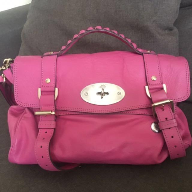 8fcfe2c53912 Mulberry alexa pink bag