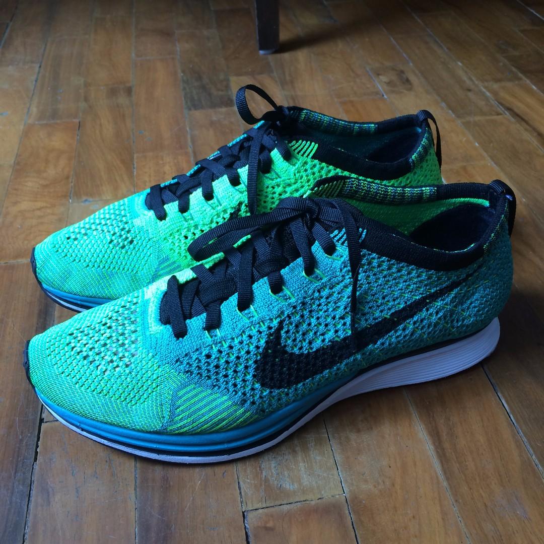 the best attitude ece85 0b288 Nike Flyknit Racer – Sport Turquoise / Lucid Green, Men's Fashion ...
