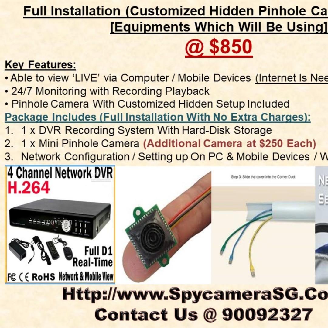 Pinhole Camera Installation Sevices For Home/Office Hidden Camera ...