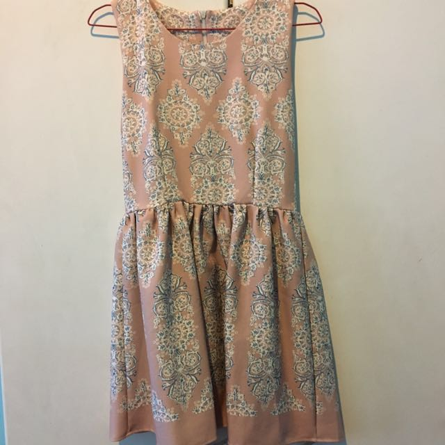 Pink Dress with Pattern