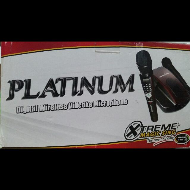 Platinum Digital Wireless Videoke Microphone