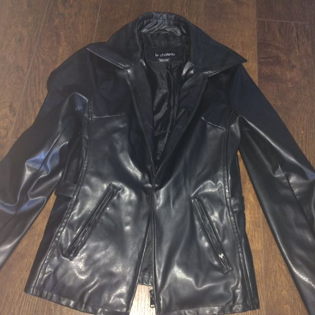 Pleather black jacket