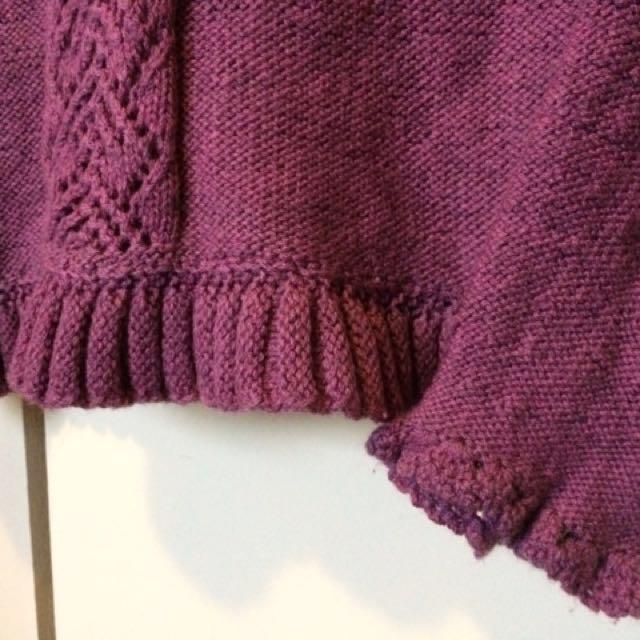 🌈Purple knit long sleeves top