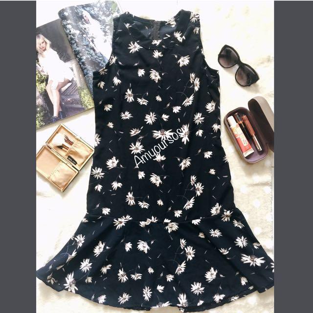 Raffled Bottom Dress