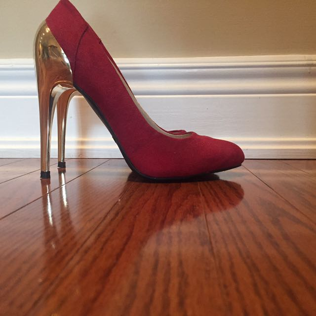 Red and gold Zigisoho heels size 6