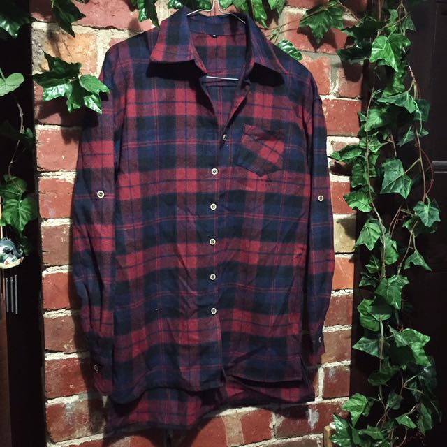 Red checkered flannelette shirt