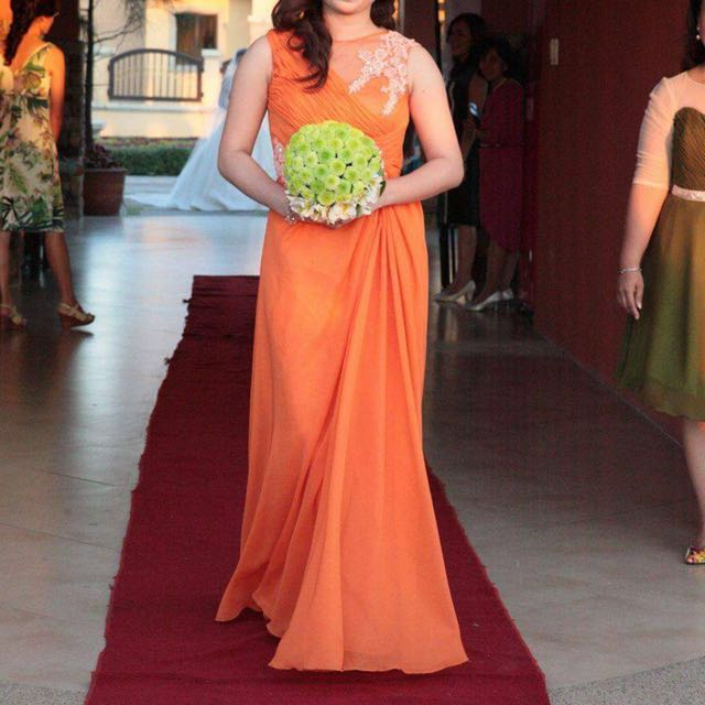 [REPRICED!] Gown ( Light Orange )
