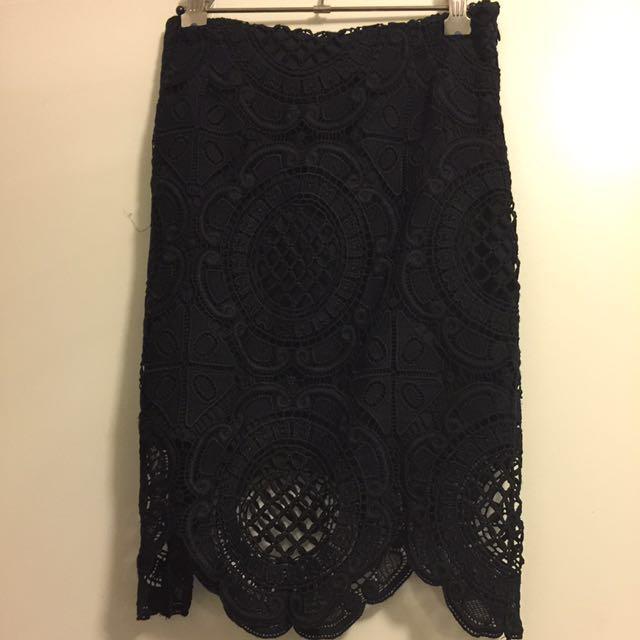 SAINTS SECRET Lace Skirt S 10