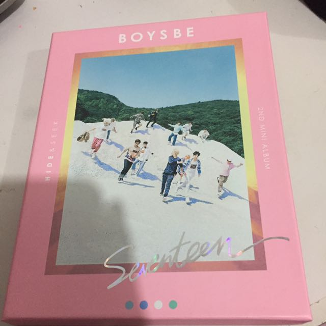 Seventeen Boys Be pink version with Woozi Photocard