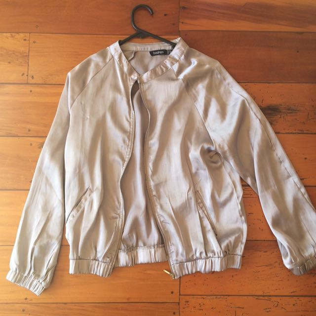 Silver Metallic Light Jacket