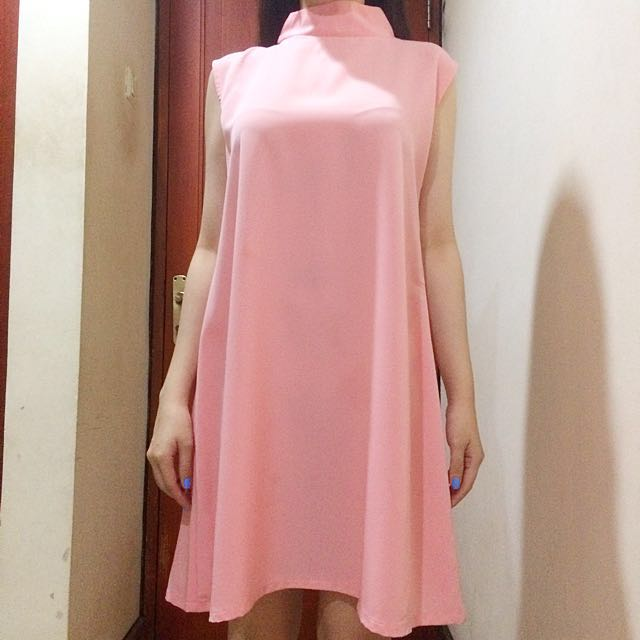 Simple Turtleneck Dress