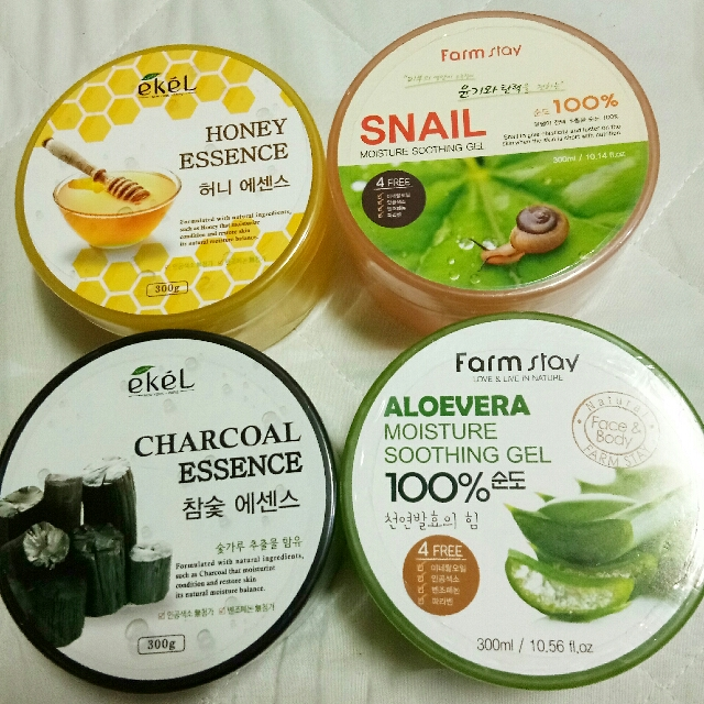 Soothing Gels (Aloe,  Honey,  Snail,  Charcoal)