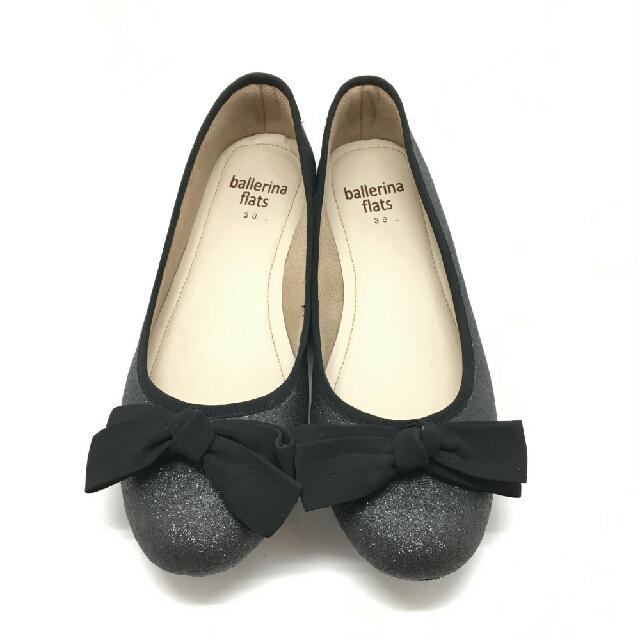 Sparkle Black Flatshoes