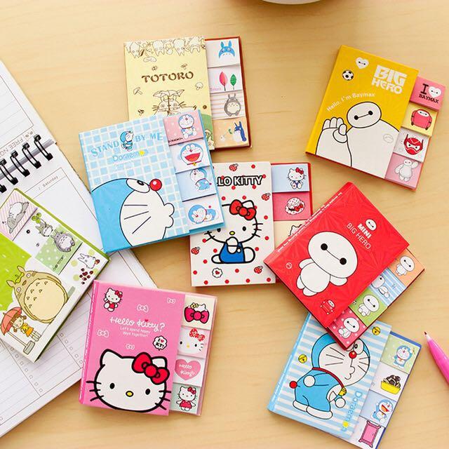 Stick Note Memo Cartoon Doraemon, Hello Kitty, Totoro