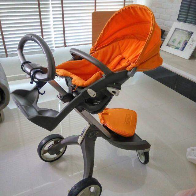 Masywnie Stokke Xplory V2 (Red and Orange cushion), Babies & Kids BI02
