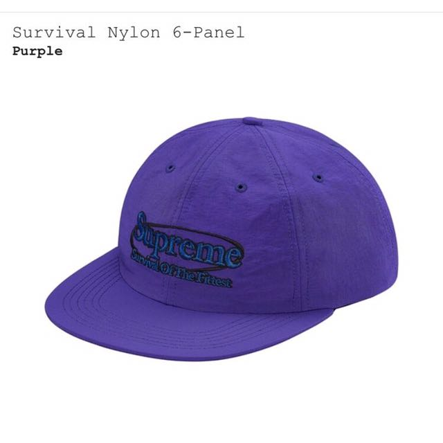 Supreme survival nylon 6-panel 帽子