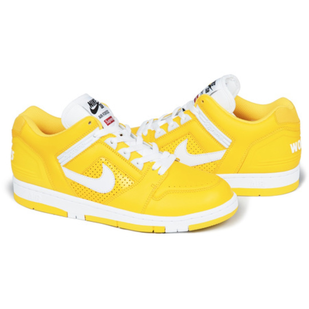 Supreme x Nike] SB Air Force 2 Yellow