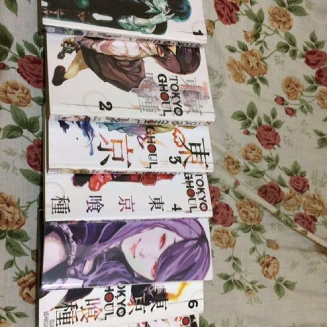 Tokyo Ghoul volumes 1-7 (English)