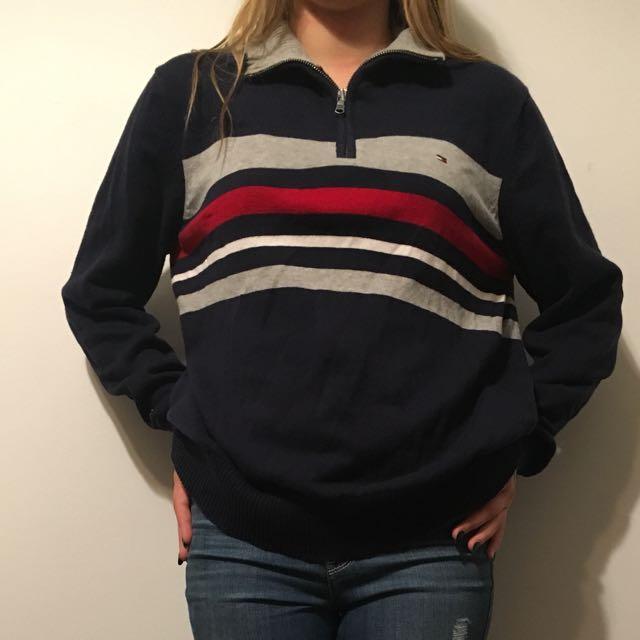 Tommy half zip sweater