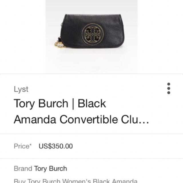 Tory Burch Amanda Shoulder Bag/ Clutch $350