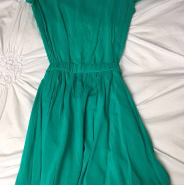 Turquoise Dress Aritzia Xs
