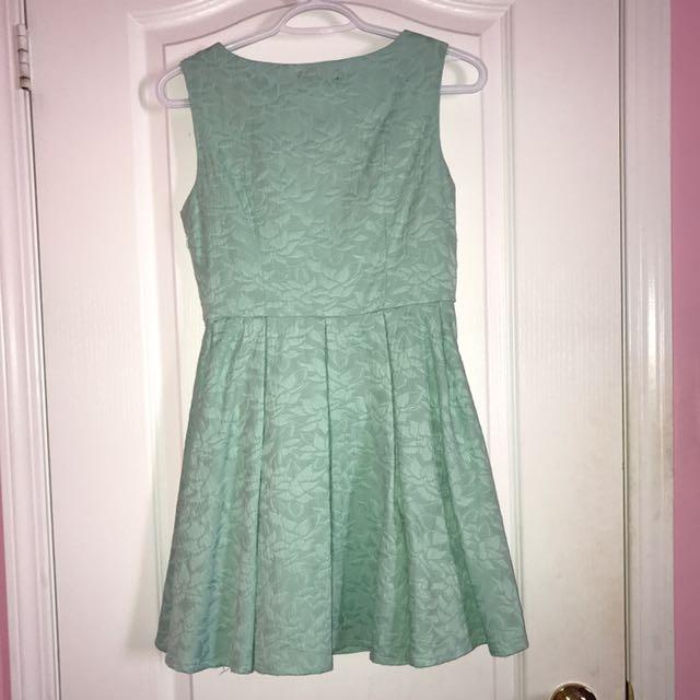 Turquoise/Mint skater dress