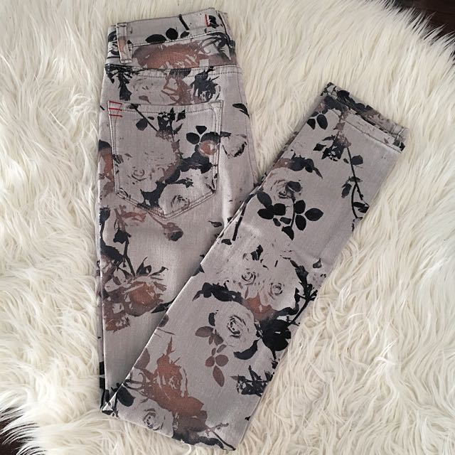 Urban Outfitters BDG high waisted floral jeans
