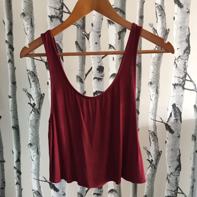 Urban Outfitters Maroon Bow Tank (XS)