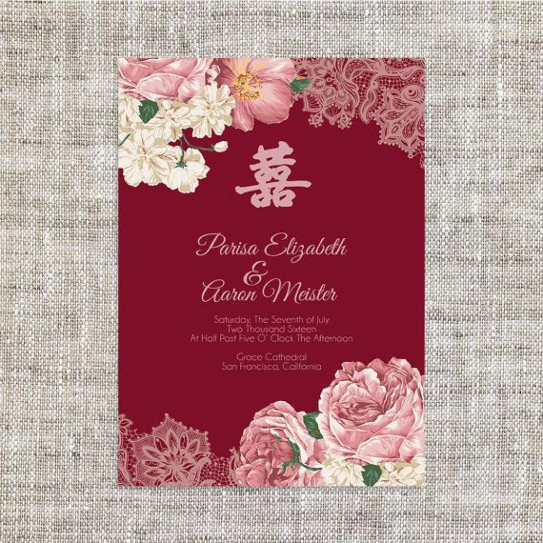 Wedding Invitation Card Design, Design & Craft, Others on Carousell