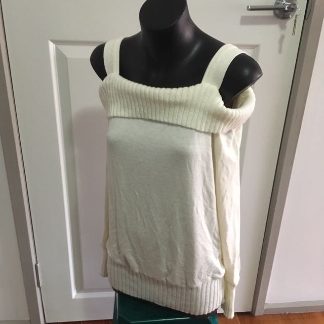 White Off the Shoulder Top Size S
