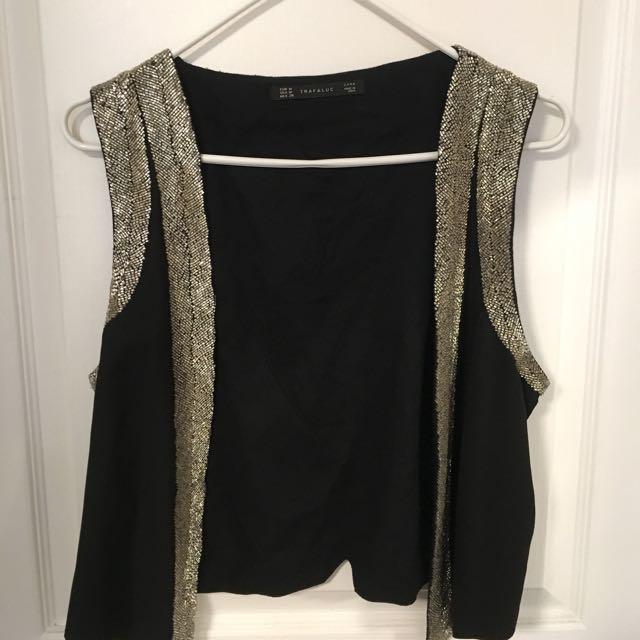 [Zara] black vest - sz M