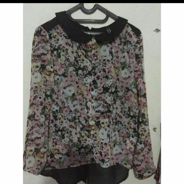 Zara Blouse Flower