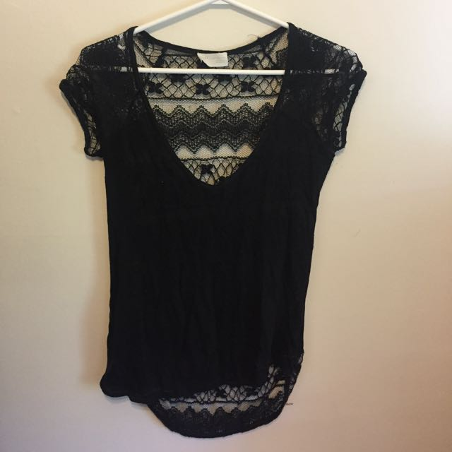Zara lace back T