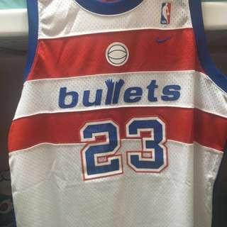 nba Jordan bullets 波衫 球衣 佐敦 喬丹 巫師隊 子彈隊