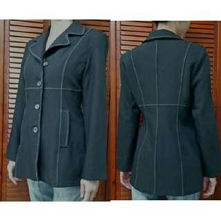 🚚 秋天必備 修身黑大衣外套M #四百不著涼 #雙十一女裝出清