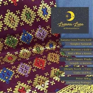 Laxana Luna: Prada Gold Songket Sarawak LLCP02