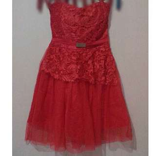 Red Cocktail Gown FOR RENT