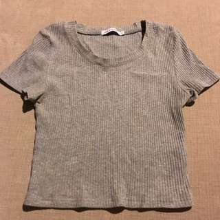Luck & Trouble Grey T-shirt Size 6