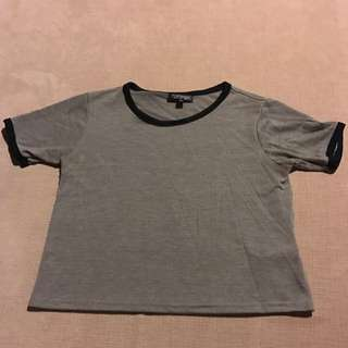 Top shop Grey T-shirt Size 6