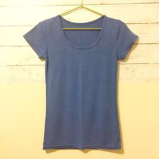 簡約素T —寶藍色 #一百元上衣